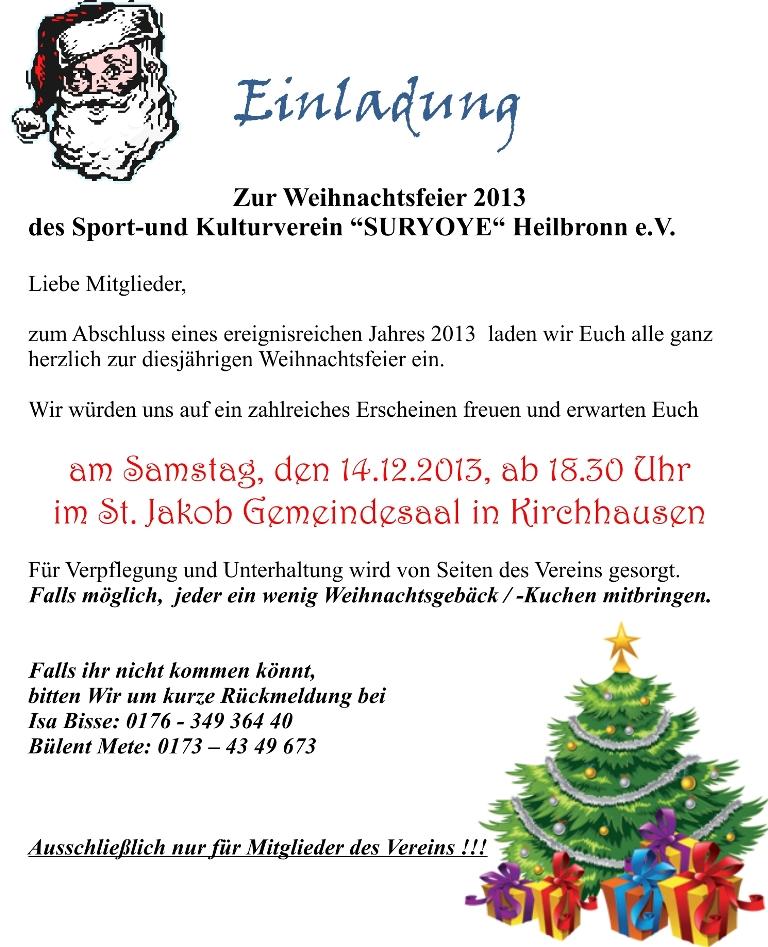 einladung firmenweihnachtsfeier - vorlagen, Einladungen
